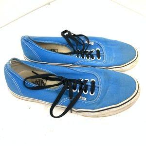 Vans Blue Lace Up Sneaker 8.5 Men / 10 Women